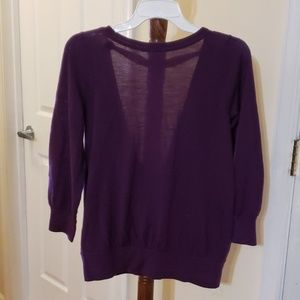 NWOT Women sweater blouse with draped back